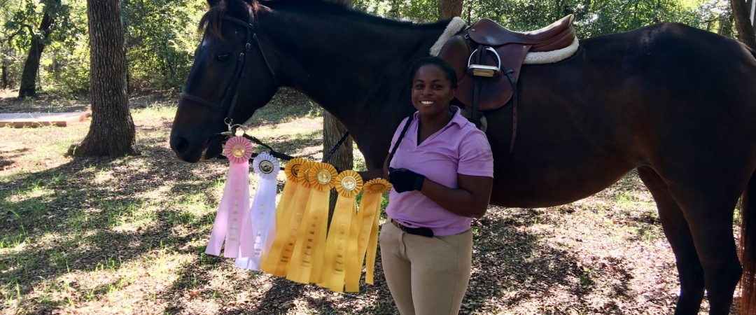 Addy wins competition ribbons